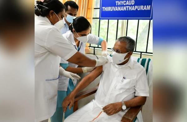 Kerala CM Pinarayi Vijayan receives 1st shot ofCOVID vaccine